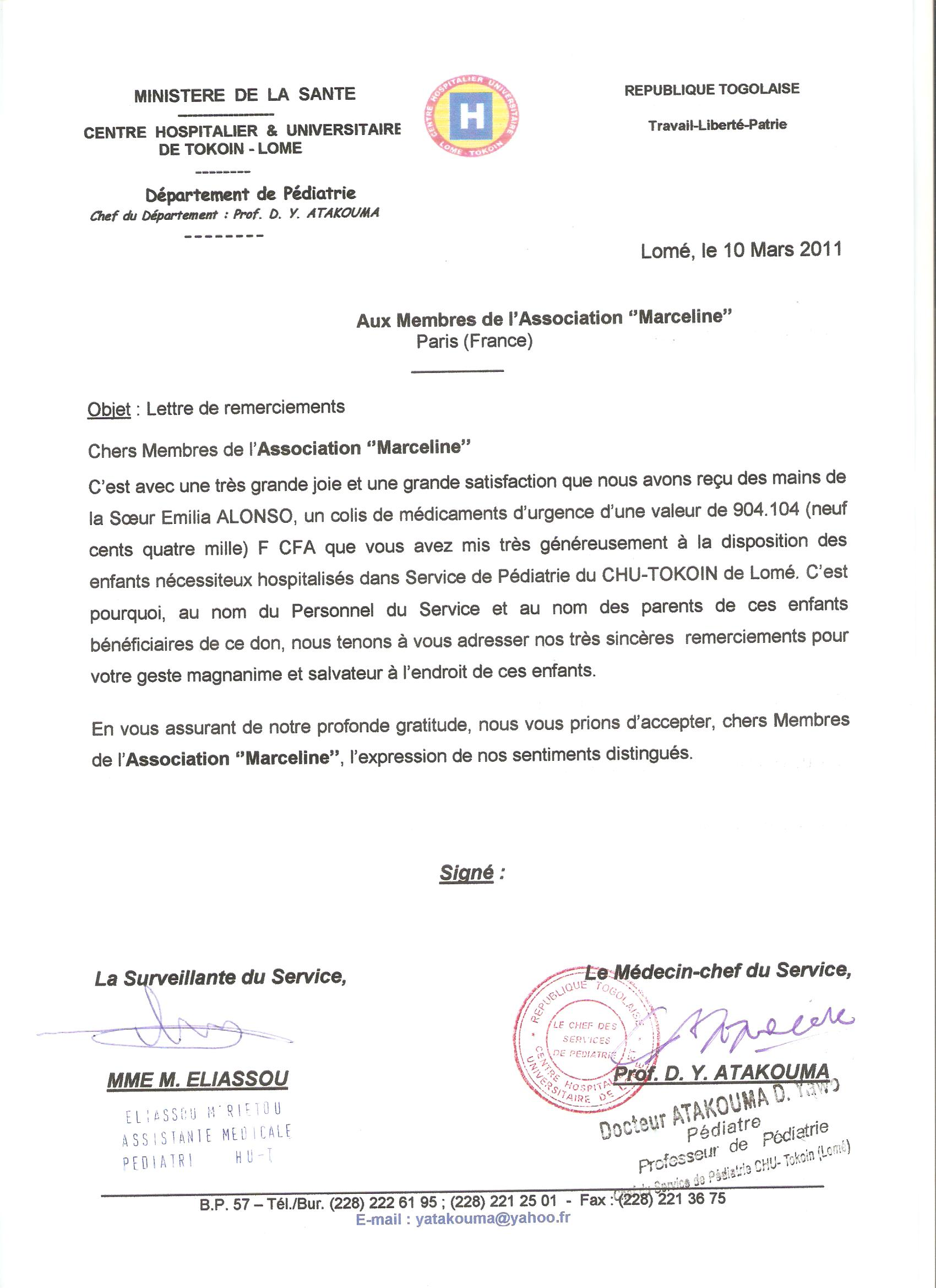 lettre type don association